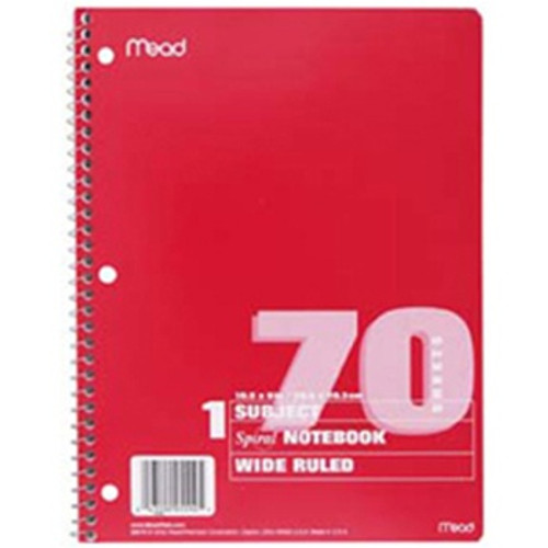Notebook Spiral Single Subject 70ct