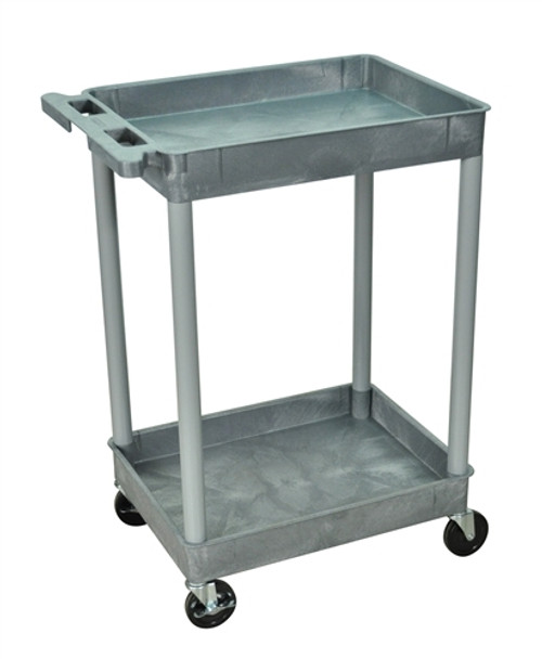 Two Shelves Tub Cart Gray - 24 in. x 18 in. x 37.5 in.