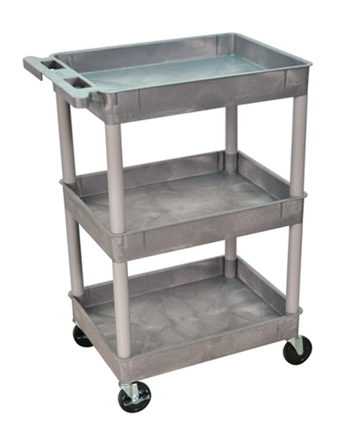 Three Shelves Tub Cart Gray - 24 in. x 18 in. x 36.5 in.