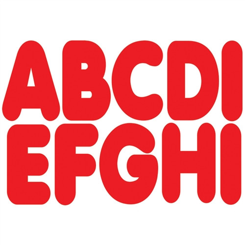 Magnetic Red Letters - 2.75 in.