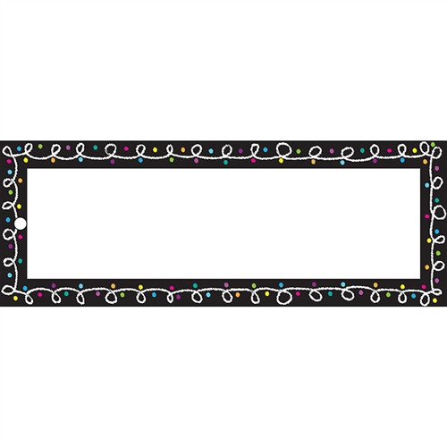 Laminated Hall Pass Chalk Blank - 9 in. x 3.5 in.