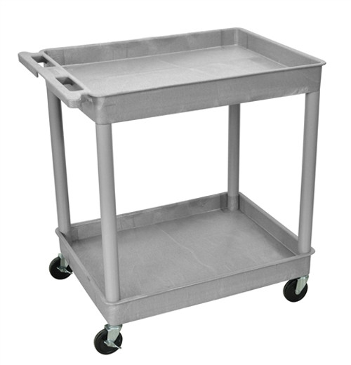 Two Shelves Large Tub Cart Gray - 32 in. x 24 in. x 37.5 in.