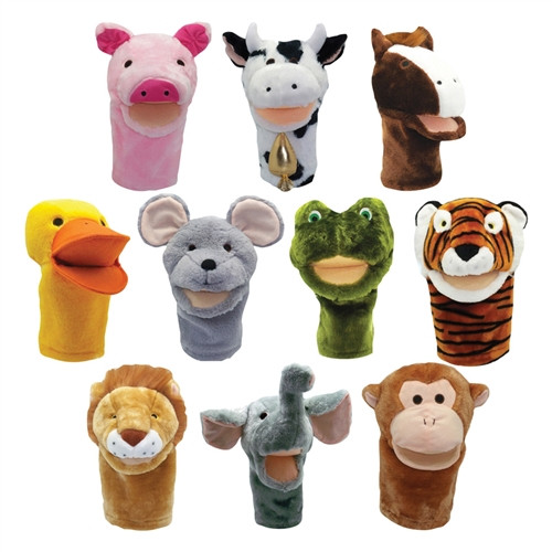 Plushpups Hand Puppets Set Of 10 - 12 in.
