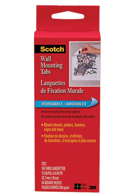 Wall Mounting Tabs-144 Pkg 1/2x3/4