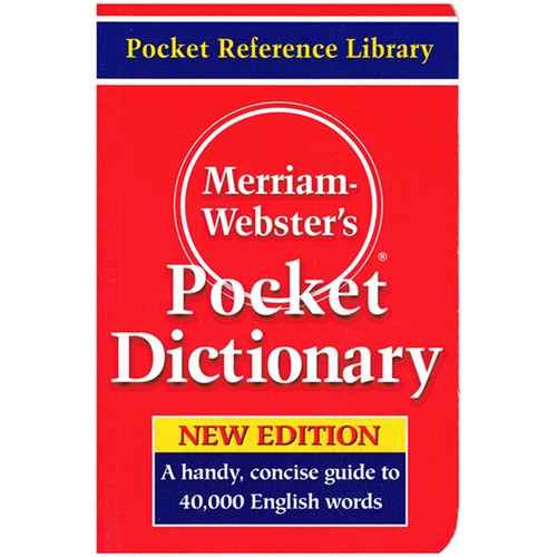 Merriam Websters Pocket Dictionary - 3.5 in. x 5.38 in.