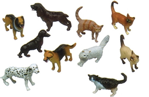 5 in. Pets Animal Playset Set Of 10