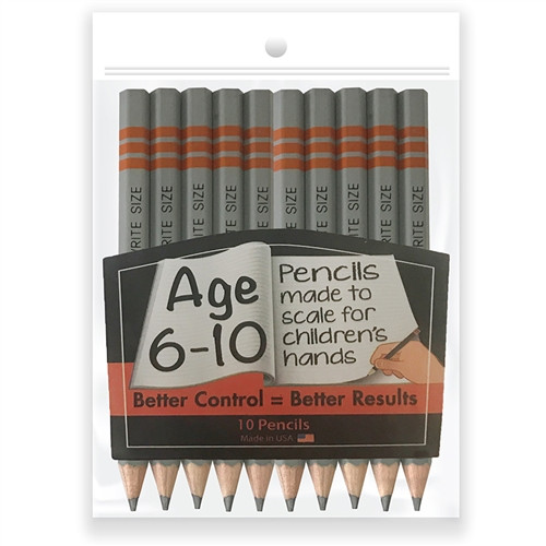 Write Size Pencils 10 Pack - 4.75 in.