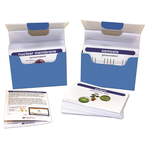 Life Science Middle School Vocabulary Builder Flash Card Set