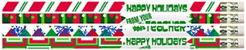 12 Pk Happy Holidays From Your Teacher Pencils