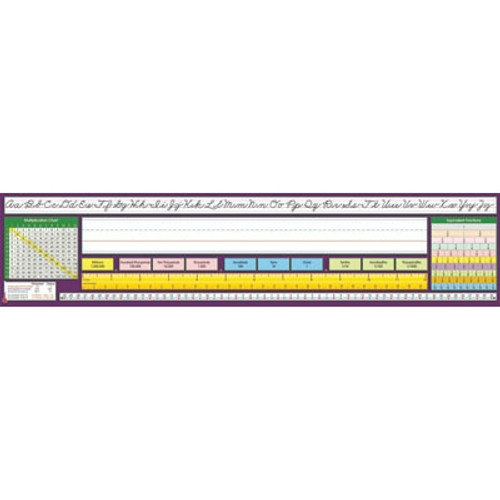 Traditional Cursive Desk Plate 17.5 in. x 4 in. 36 Pack