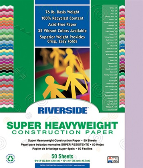 Riverside Lilac 50 Sht Construction Paper - 12 in. x 18 in.