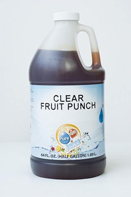 PureFUN! Clear Fruit Punch Flavored 100% CLEAR Juice Blend Concentrate
