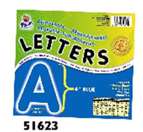 4 Self-Adhesive Letters Blue