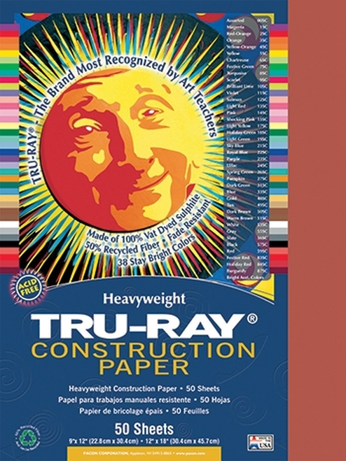 Tru Ray Holiday Red 50 Sht Construction Paper - 12 in. X 18 in.