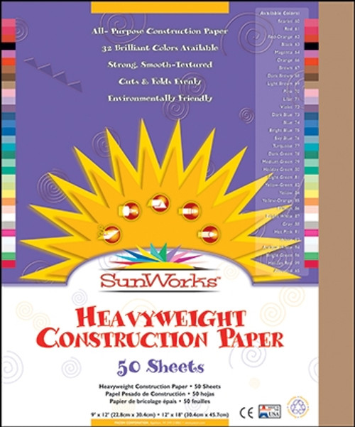 Construction Paper Lite Brown - 12 in. x 18 in.