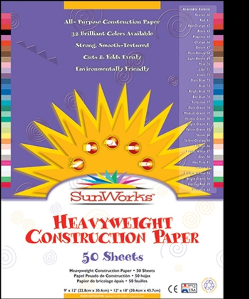 Construction Paper Black - 12 in. X 18 in.