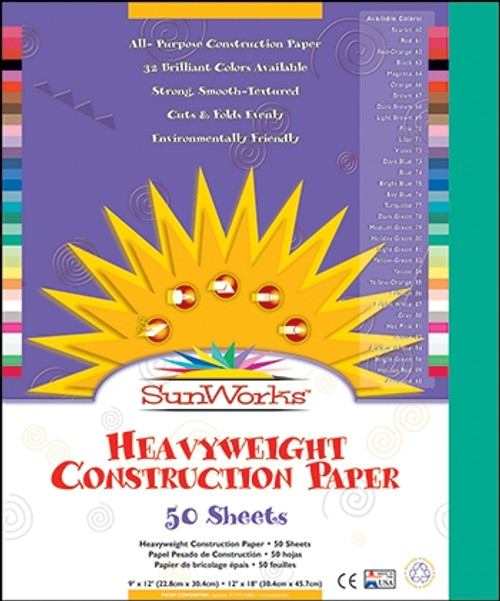 Sunworks Holiday Green 50 Ct Construction Paper - 12 in. x 18 in.