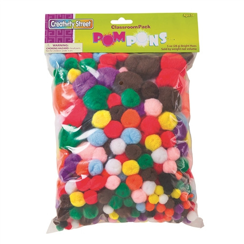 Pom Pons Class Pack Assorted Colors 300 Pieces