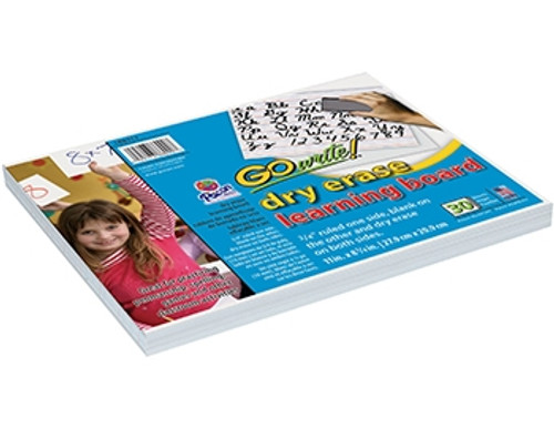 GoWrite Dry Erase Learning Boards Non Adhesive - 8.25 in. x 11 in.