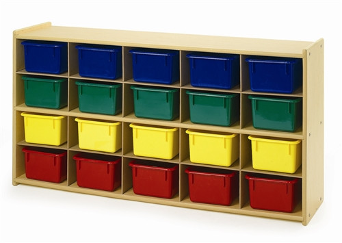 Angeles Value Line 20 Cubbie Storage With Assorted Trays