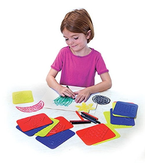 Rubbing Plates Teach Me Shapes 4 in. X 5.25 in.16 Pk