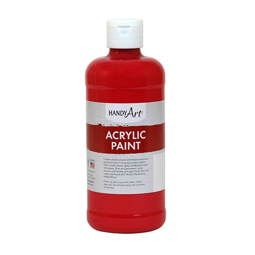 Acrylic Paint Brite Red - 16 Oz.