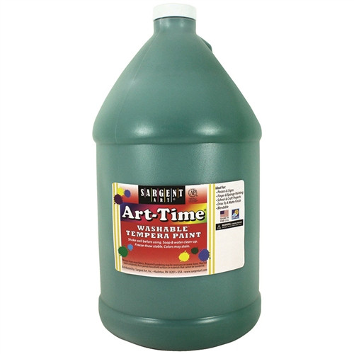 Art-Time Washable Paint Green - Gallon