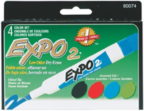 Marker Expo 2 Dry Erase 4 Color