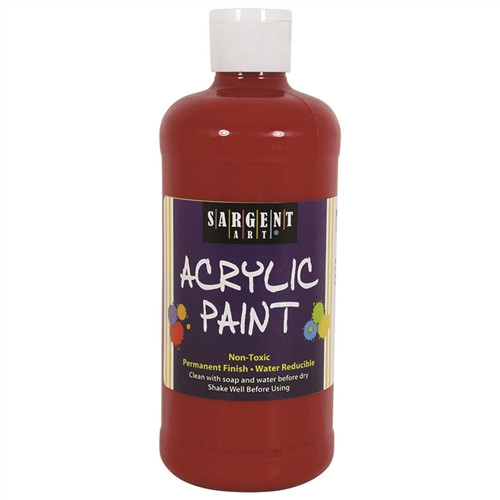 Acrylic Paint Red - 16 Oz.