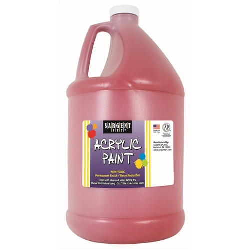 Acrylic Paint Red - 64 Oz.