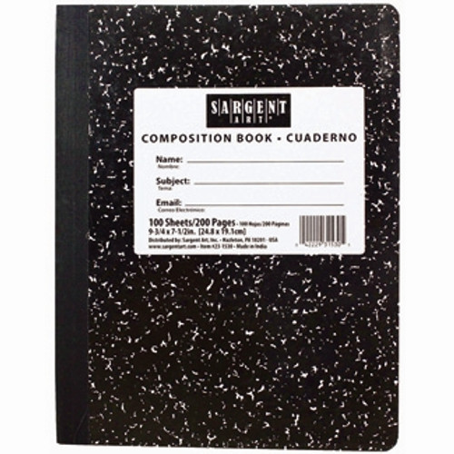 100 Sht Hard Cover Composition Notebook - 7.5 in. X 9.75 in.