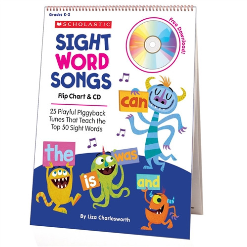 Sight Word Songs Flip Chart and CD
