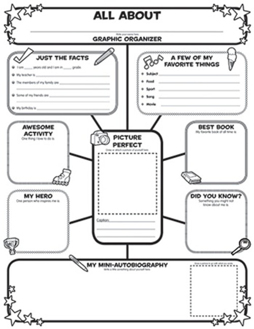 All About Me Web Graphic Organizer