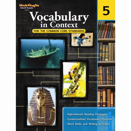 Vocabulary In Context For The Common Core Standards Gr 5