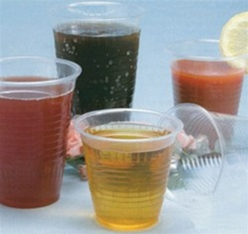 3.5 Ounce Disposable Translucent Plastic Cups