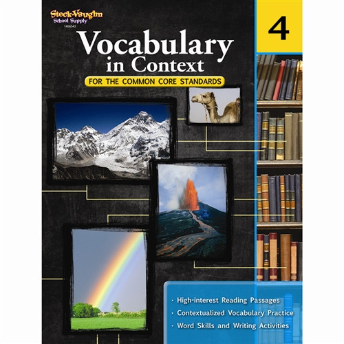 Vocabulary In Context For The Common Core Standards Gr 4