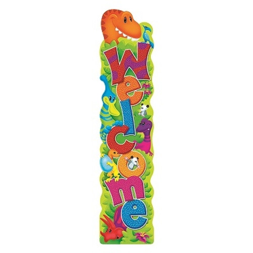 Welcome Dino-Mite Pals Quotable Expressions Banner - 5 Ft.