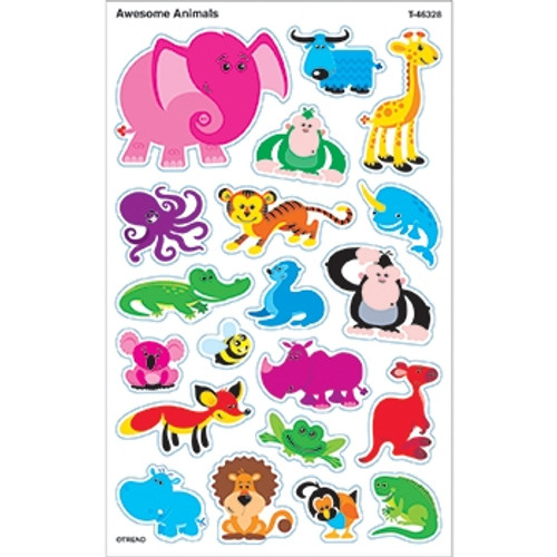 Awesome Animals Supershapes Stickers Large