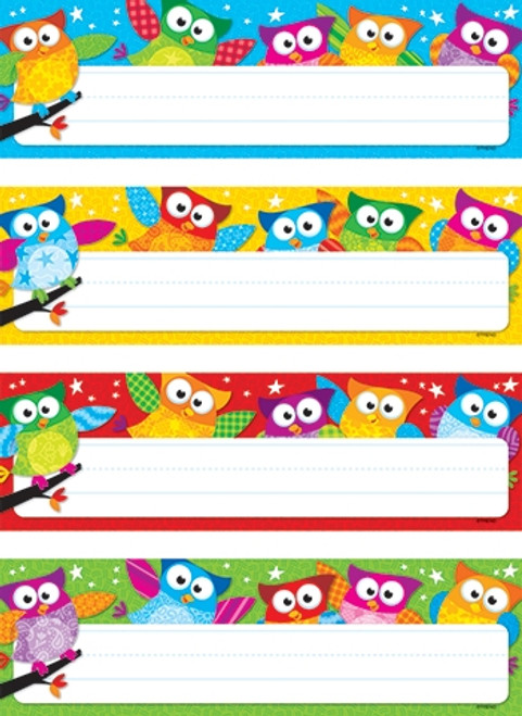 Owl Stars Desk Toppers Name Plates Variety Pack