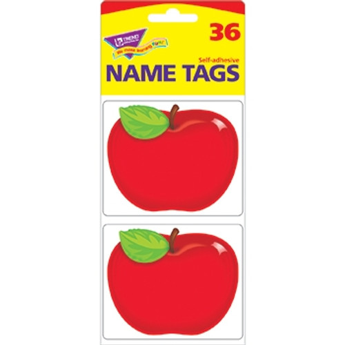 Shiny Red Apple Name Tags