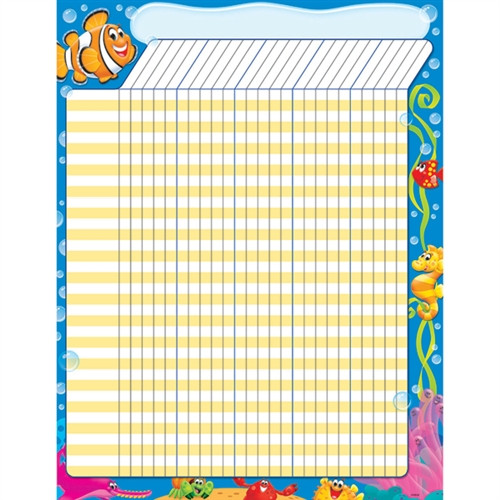 Sea Buddies Incentive Chart Large - 17 in. x 22 in.