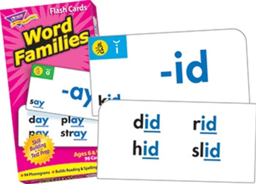 Flash Cards Word Families 96/Box