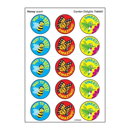 Garden Delight Stinky Stickers Large Round