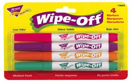 Wipe Off Marker 4 New Colors