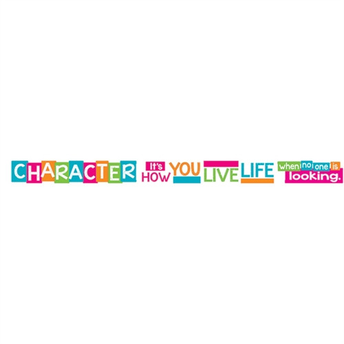 Character Its How You Live Life When No One Is Looking Banner