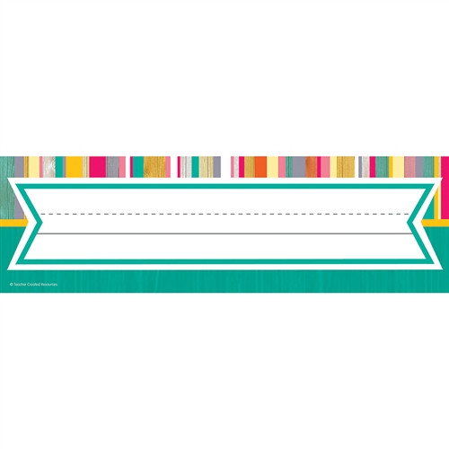 Tropical Punch Name Plates - 3.5 in. x 11.5 in.