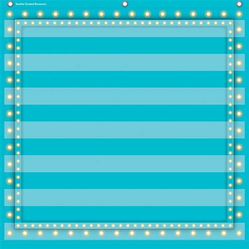 Light Blue Marquee 7 Pocket Chart - 28 in. x 28 in.