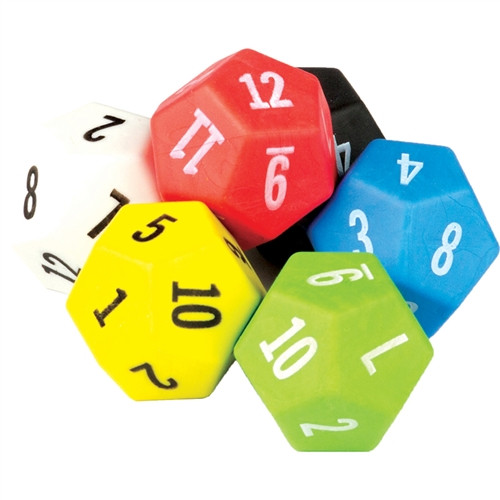 12 Sided Dice 6 Pack