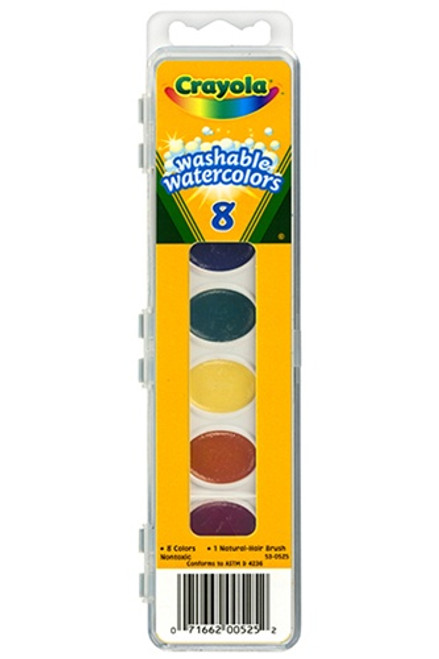 Washable Water Colors 8 W/Brush