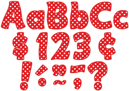 Red Polka Dots Funtastic Font Letters Combo Pack - 4 in.